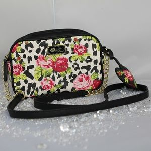Betsey Johnson Flowers Print Mini Crossbody Bag